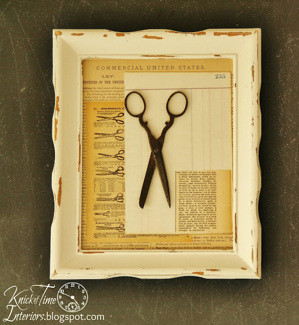 Mixed Media Art Photo Frames Repurposed Book Pages via KnickofTimeInteriors.blogspot.com