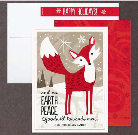 Kristen Cavallo Christmas Fox on minted.com