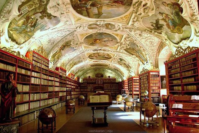 La biblioteca del monasterio Strahov, Praga