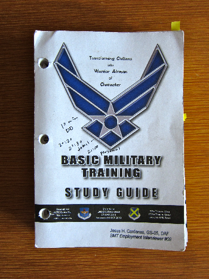 Studying for Air Force Basic Military Training - AFBMT