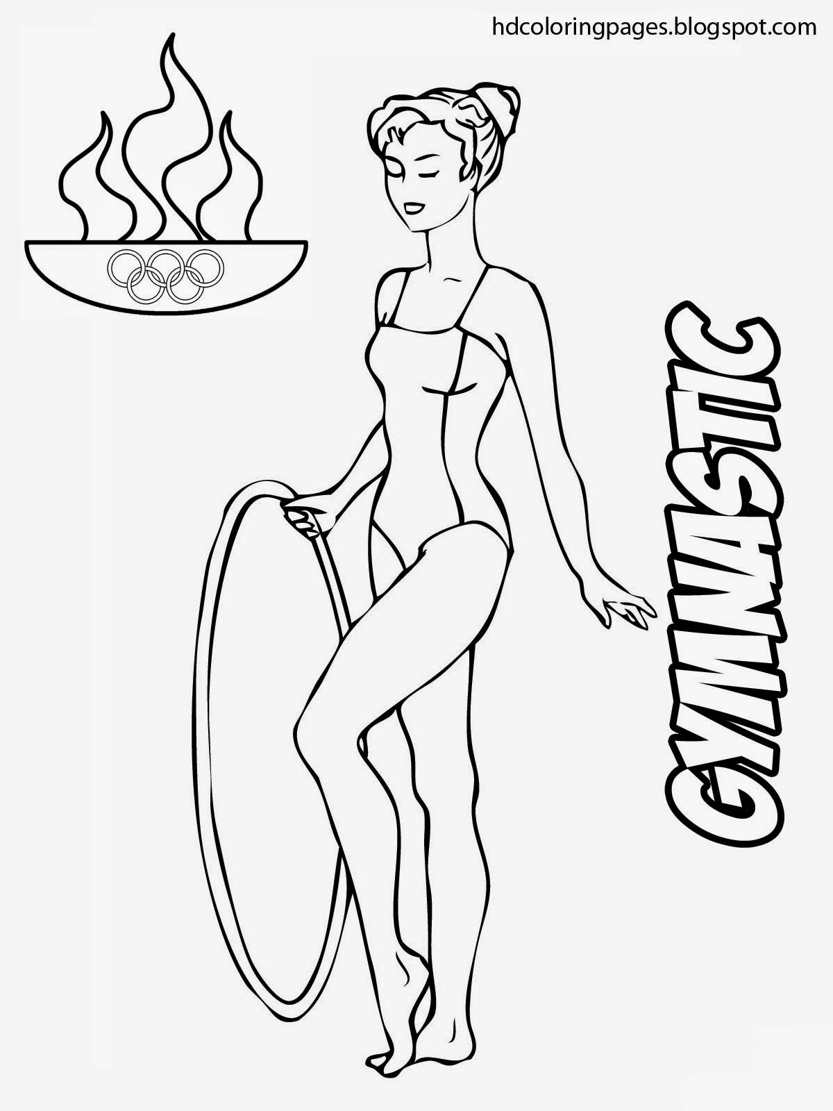 Coloring pictures gymnastics - Gymnastic Coloring Pages Olympic