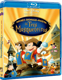 Capa+Blu+Ray Download Mickey, Donald e Pateta   Os Três Mosqueteiros (2004) BDRip Bluray 720p Dublado