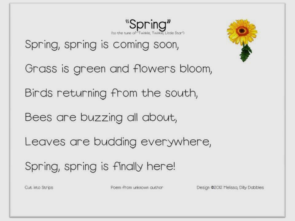 spring poems 3 stanzas 4 lines each Introduction to literature about poetry  this short poem by emily dickinson has two stanzas of four lines each  stories 3) ballad stanzas 4) repetition 5).
