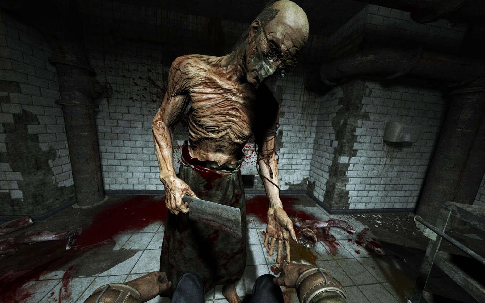 Outlast Game review picture of doctor about to cut off fingers