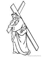 Gambar Yesus Membawa Salib Untuk Diwarnai