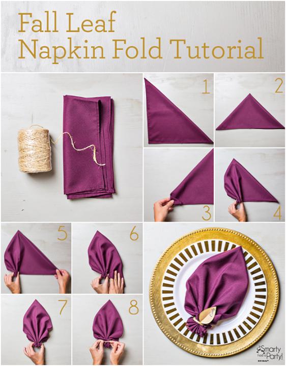 Napkin Fold Tutoraial