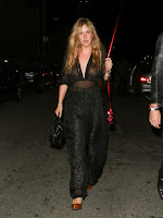 Scout Willis Goes Braless In Sheer Jumpsuit At Rihanna Party