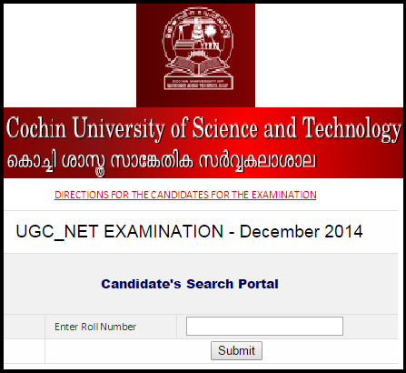 CUSAT Kochi CBSE UGC NET 28th December 2014 Subject Code Wise Seat Arrangement Plan (Coordinating Institution Code-16)