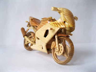 Wooden Miniature Motorcycles Seen On www.coolpicturegallery.us