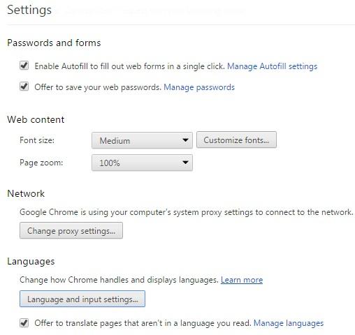 Chrome bahasa