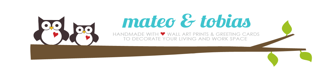 mateo and tobias -  modern wall art prints and greeting cards to decorate your living and work space