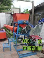 mesin pencetak pelet kombinasi mixer dan pengering rotary dryer