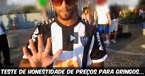 Teste de honestidade de preços para gringos e Brasileiros