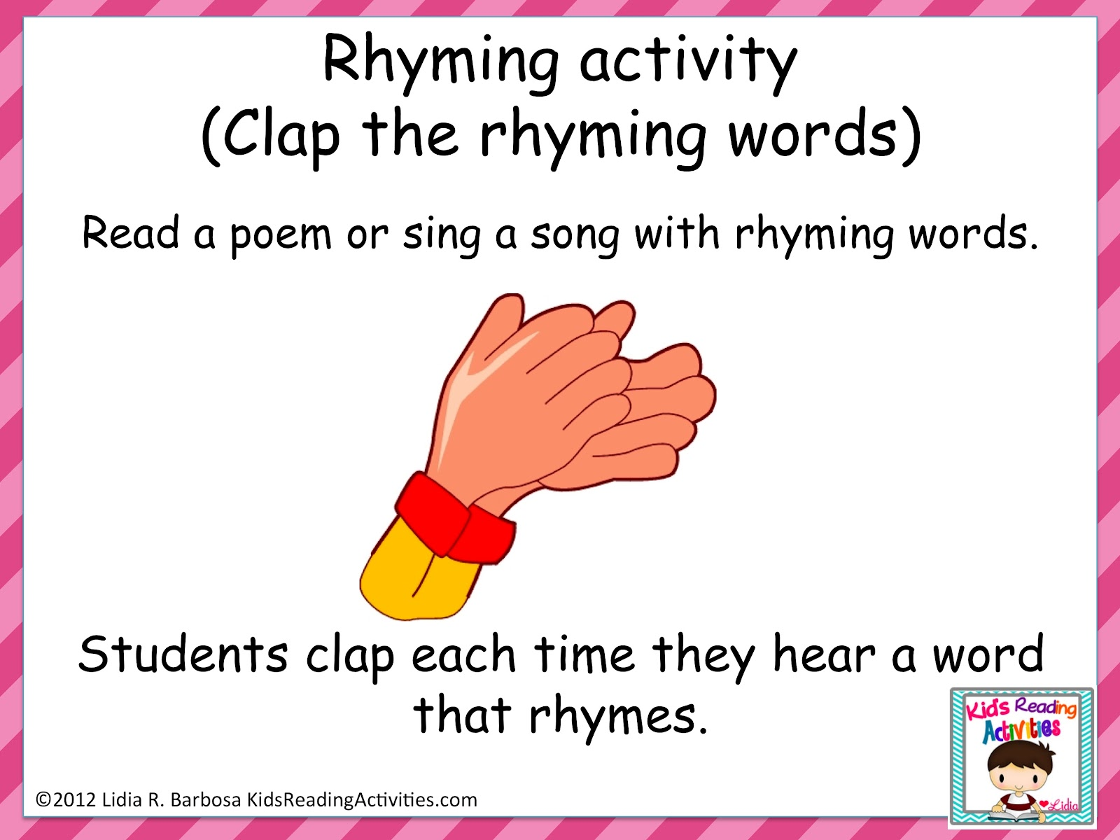 Worksheet Kindergarten Rhymes mrs miners kindergarten monkey business rhyme time in 3 read a poem or sing song with rhymes students can clap stand when they hear rhyming word