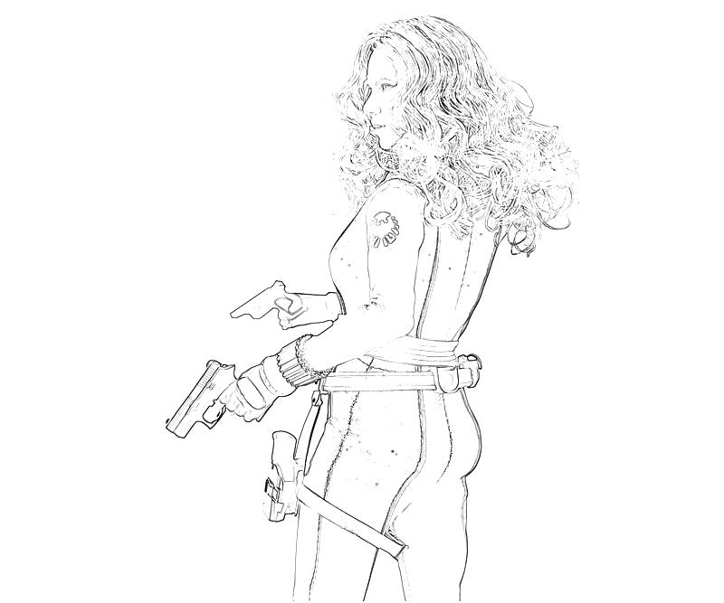 black widow free coloring pages