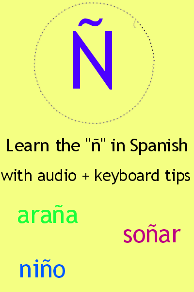 The ñ in Spanish + audio + keyboard tips. Visit www.soeasyspanish.com  #español #learnspanish