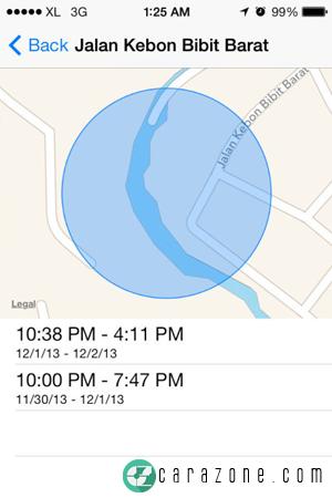 Cara Akses History Lokasi di iPhone