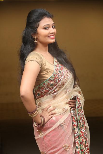 Neha telugu actress in Lovely Saree
