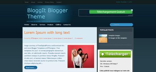 BloggIt Blogger Theme by BTDesigner