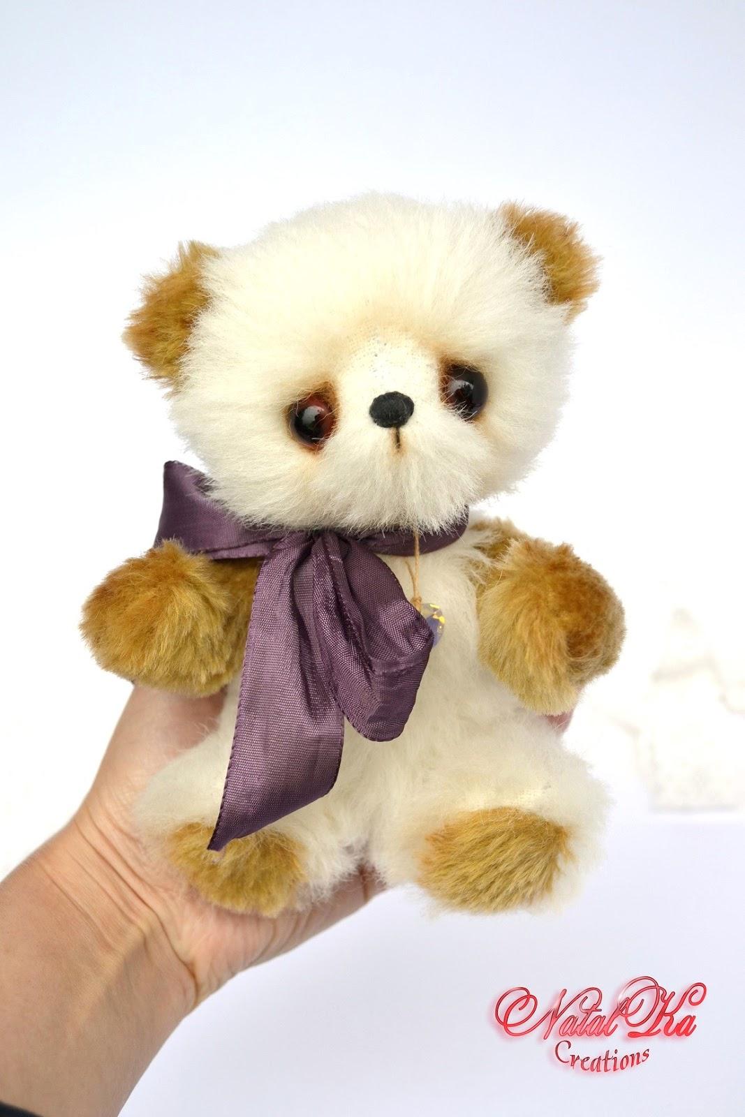 Künstlerbär, Teddybär, Künstlerteddybär, Teddy aus Mohair von NatalKa Creations. Artist teddy bear, teddies, teddy bear, mohair, ooak, handmade by NatalKa Creations
