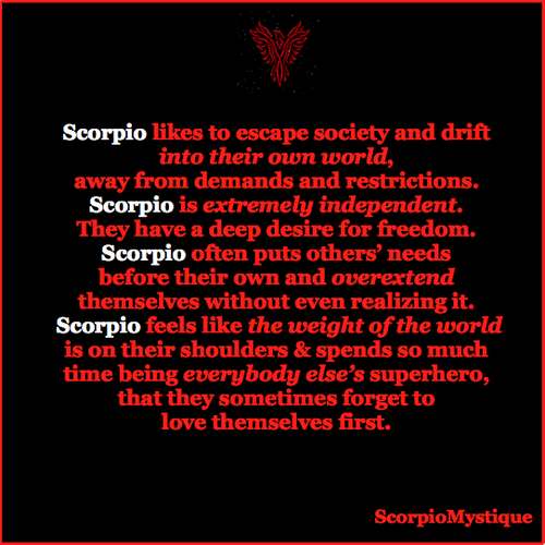 scorpio in the first house