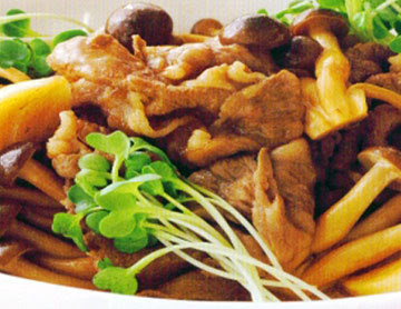 Tumis Daging Jamur Shimeji