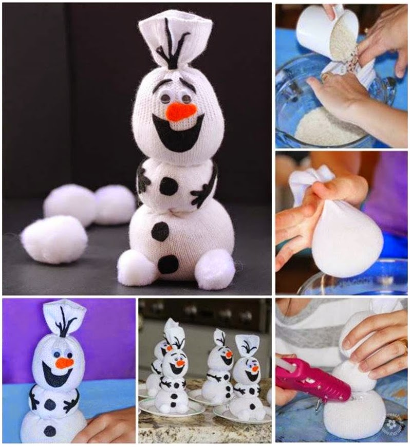 DIY Disney Frozen Olaf Sock Snowman