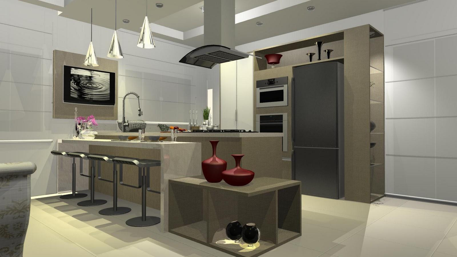designER Tiago Gelatti: Cozinha Gourmet Grandes espaços #884362 1600 900