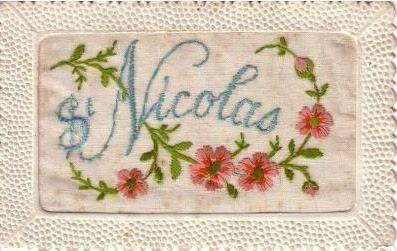 cartes brodées de Saint Nicolas