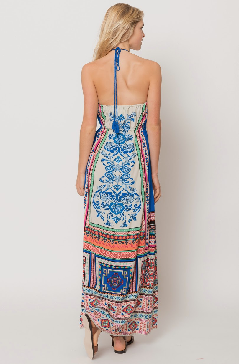 Buy online halter neck maxi dress for women on sale at caralase.com