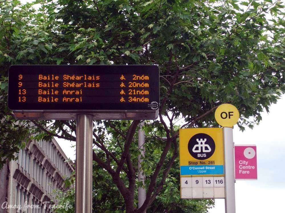 Dublin bus stop