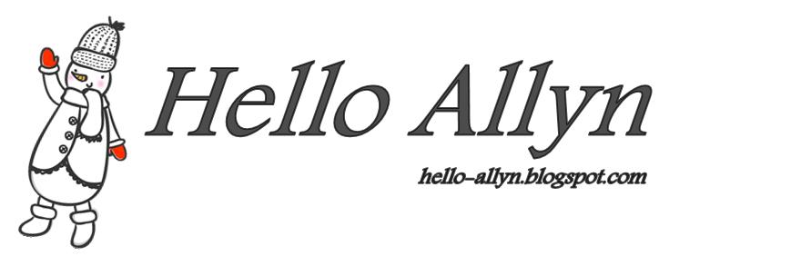 Hello Allyn