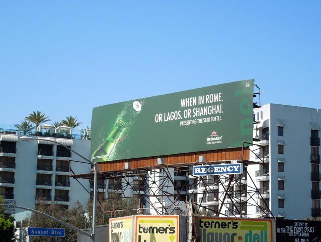 When Rome Heineken Star billboard