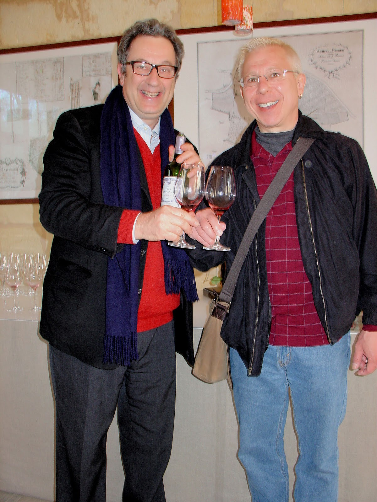 Our final Bordeaux tasting at the Château Siaurac. Here with owner Paul Goldschmidt.