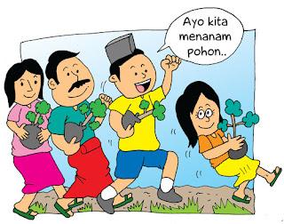Ayo ... menanam pohon bersama di tahun baru (@,@)9