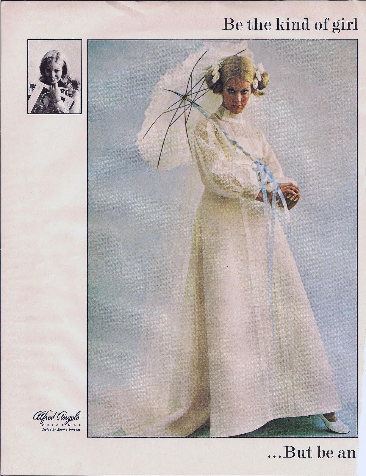 Weddingzilla: Vintage Retro Wedding Dress Photos Bride\'s Spring 1970