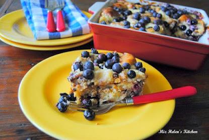 Blueberry Sausage Bake