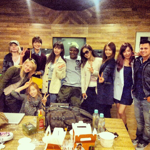 SNSD with Sean Garrett and Ricky Luna