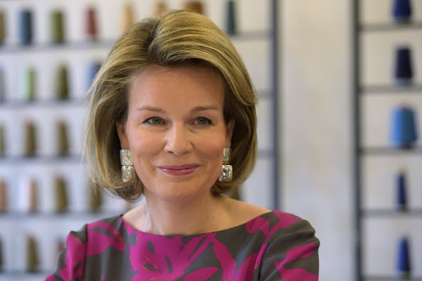 Queen Mathilde visits Dries van Noten Exhibition