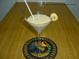 Batido cremoso de plátano