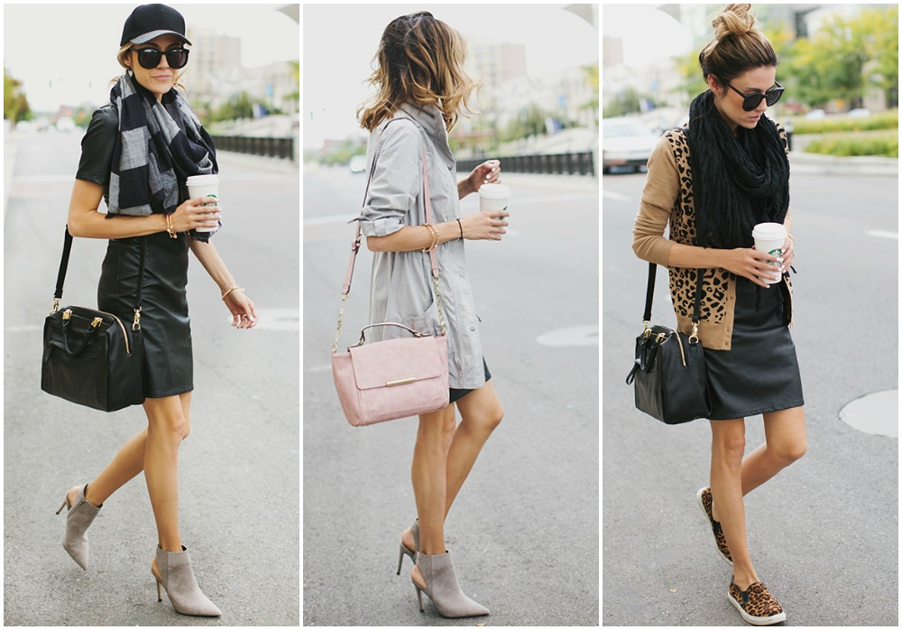 3 ways to wear a leather dress - top uk blog magazine fashion trends