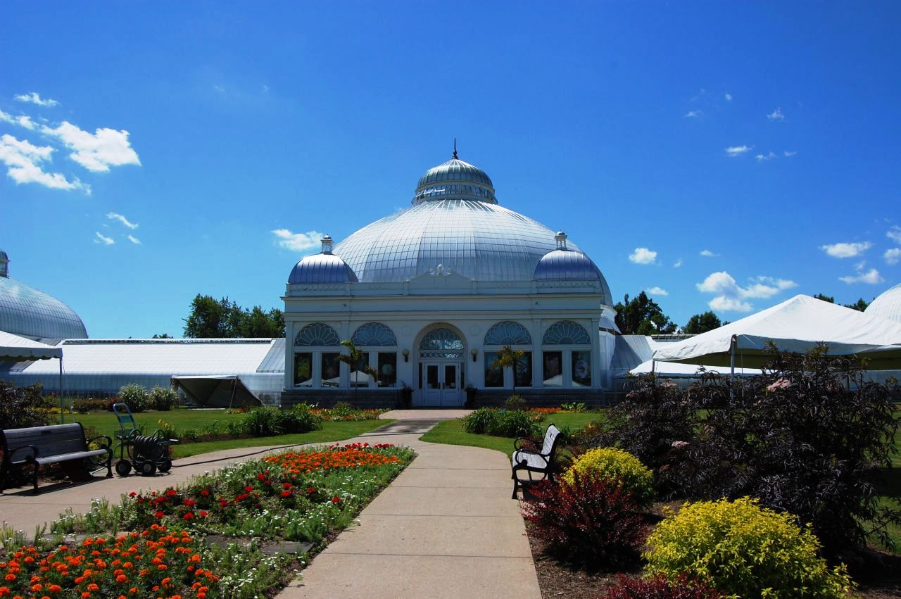 Tri Domed Glass Conservatory Building