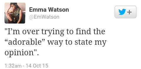 Emma watson tweet on jennifer lawrence's essay