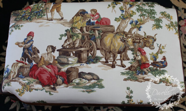 Kravet Guinevere Festival Toile; a french farmhouse pattern