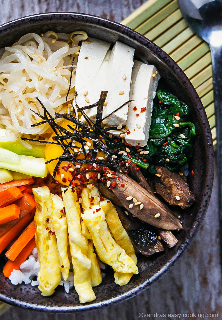 Easy Recipe for Korean Bibimbap Mixed Rice Bowl