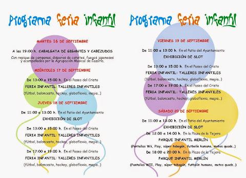 Cazorla - Feria 2014 - Programa para Niños