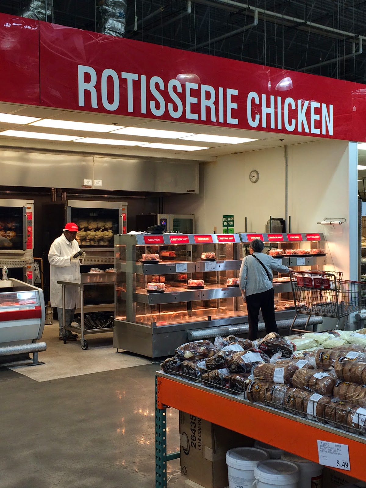 do you really know what you re eating a flock of rotisserie at costco s hackensack store the rotisserie chickens are big and cheap but the ingredients label stop you from actually buying one below