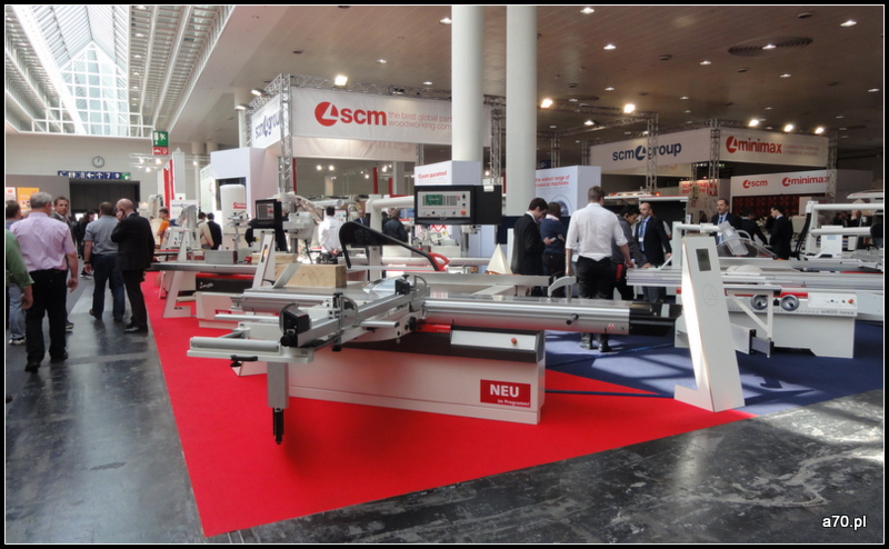 SCM maszyny do drewna stoisko LIGNA