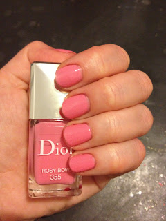 Dior, Dior nail polish, Dior nail lacquer, Dior Rosy Bow, nail, nails, nail polish, polish, lacquer, nail lacquer, mani, manicure, Valentine's Day