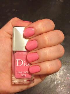 Dior, Dior nail polish, Dior nail lacquer, Dior Rosy Bow, nail, nails, nail polish, polish, lacquer, nail lacquer, mani, manicure, Valentine's Day